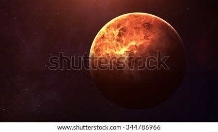 Venus - High resolution best quality solar system planet. This image elements furnished by NASA.