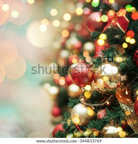 decorated Christmas tree  #344833769