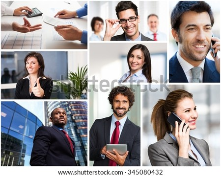 Business people in different situations #345080432