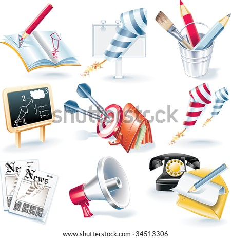 raster version of advertising campaign icon set #34513306