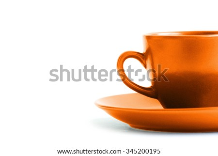 Cup of coffee isolated on white background #345200195
