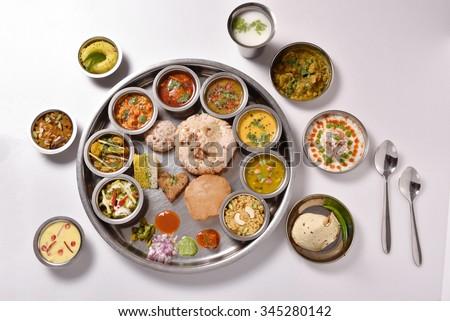Indian food Thali #345280142