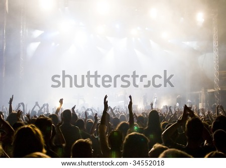 Crowd at a concert #34552018