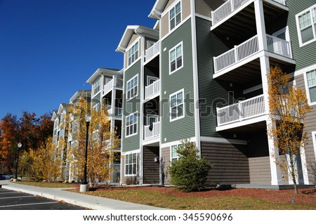 apartment building Royalty-Free Stock Photo #345590696