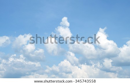 The vast blue sky and clouds sky #345743558
