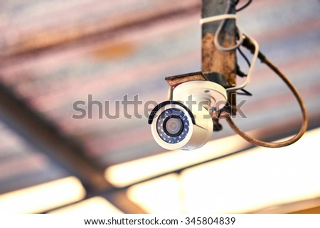 Security camera hanged from ceiling  #345804839