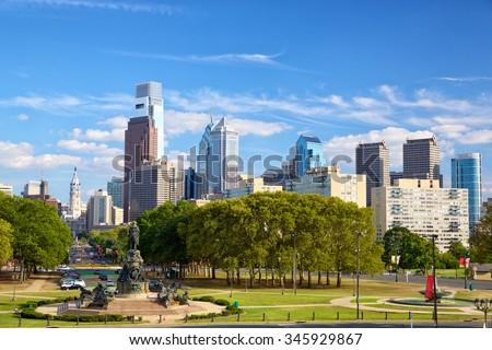 Philadelphia downtown skyline, Pennsylvania, United States