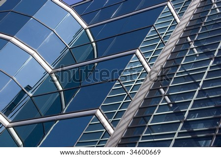 close up of modern building / abstract architectural background #34600669