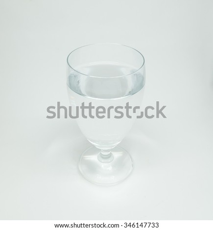 A glass of water. #346147733