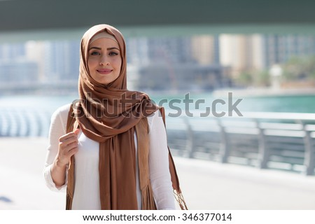girl in hijab Royalty-Free Stock Photo #346377014