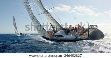 Sailing yacht. Yachting. Sailing Royalty-Free Stock Photo #346452827