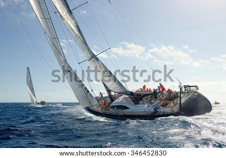 Sailing yacht race. Yachting. Sailing Royalty-Free Stock Photo #346452830