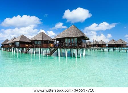 beautiful beach and tropical sea #346537910