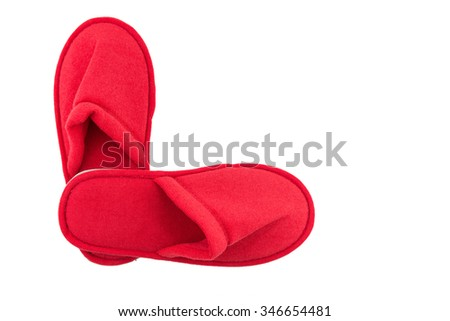 indoor slippers, isolate white background, red #346654481