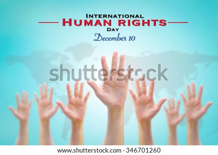 International Human Rights Day on December 10th  #346701260