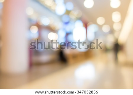 Blur image of shopping mall with shining lights #347032856