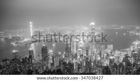 HONG KONG, CHINA - DECEMBER 4, 2015: Hong Kong View #347038427