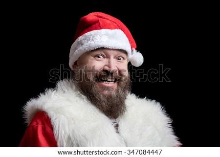 Bad Santa  laughs and laughs mockingly #347084447