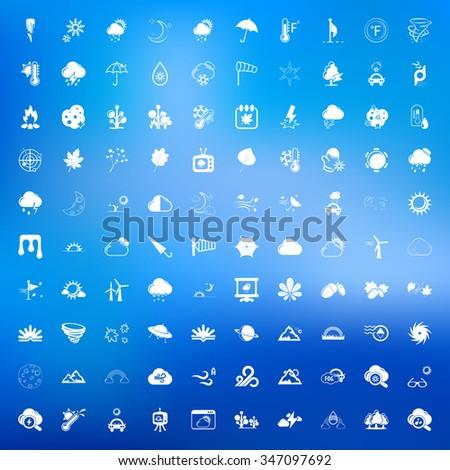 Nature icons set. #347097692