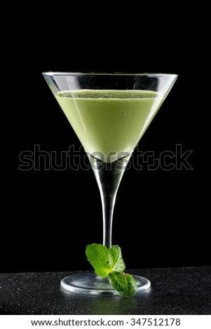 Avocado Margarita mint cocktail #347512178