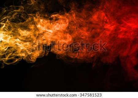 Smoke texture red and orange color pattern #347581523