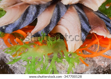sashimi herring, herring,  macro shallow depth of field #347700128