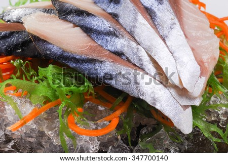 sashimi herring, herring,  macro shallow depth of field #347700140