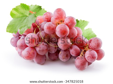 pink grapes isolated on the white background #347825018