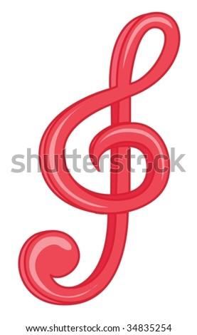 illustration of music symbol on white #34835254