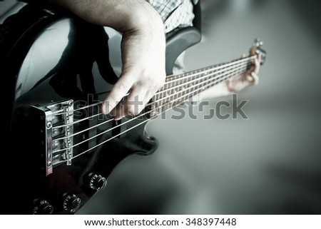 bass guitar player #348397448
