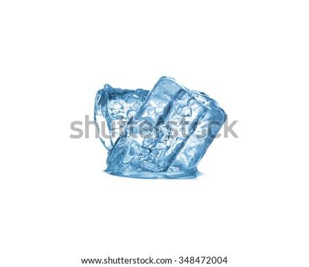 ice cubes Isolated on white background #348472004