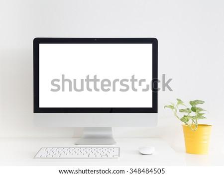 White modern workspace.