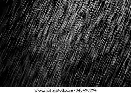 rain on a black background
