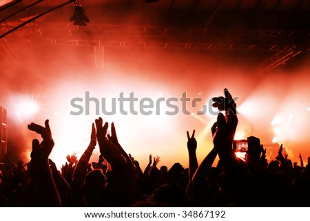 cheering crowd at concert #34867192