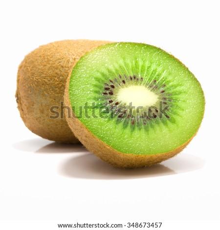 Kiwi fruit isolated on white background #348673457