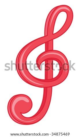 illustration of music symbol on white #34875469