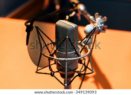 Studio microphone #349139093