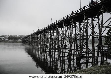 Wood bridge #349375616