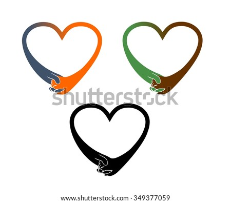 hands holding heart shape