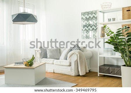 Picture of trendy details in living room #349469795