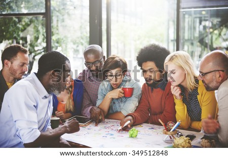 People Meeting Social Communication Connection Teamwork Concept #349512848