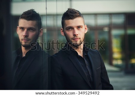 Portrait of a successful young businessman outdoor