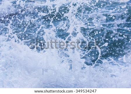 Splashing Waves, unfocused Royalty-Free Stock Photo #349534247
