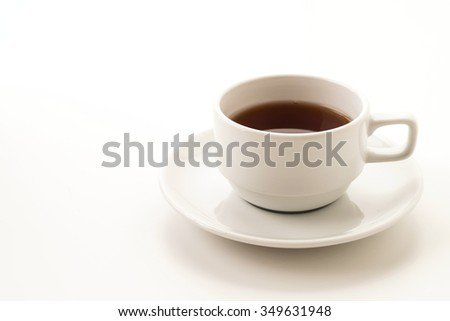 tea cup on white background #349631948