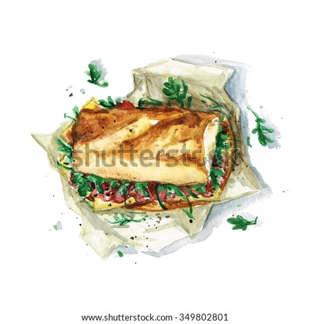 Sandwich - Watercolor Food Collection