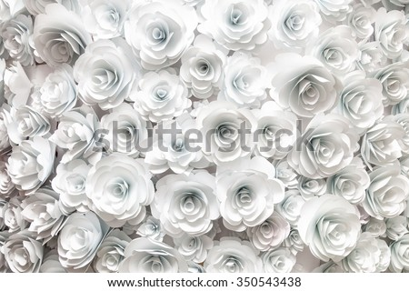 wall with a background of paper flowers handmade craft creative abstraction #350543438
