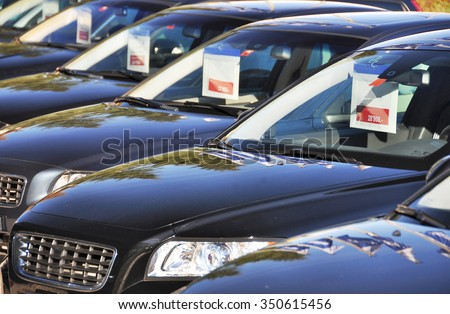 Cars for sale Royalty-Free Stock Photo #350615456