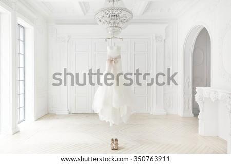 Wedding dress Royalty-Free Stock Photo #350763911