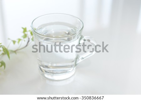 A glass of water #350836667