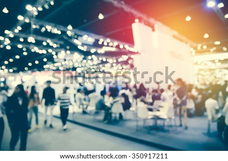abstract blurred event with people for background Royalty-Free Stock Photo #350917211